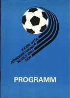1980 UEFA Junioren Turnier DDR mit BRD, UdSSR, Nordirland, England, Polen, ...