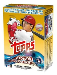 2018 Topps Update Series MLB Baseball cards BOX - MASSIVE HITS - BRAND NEW - WOW
