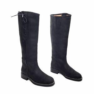 ARIAT Black Nubuck Tall Riding Boots Size 7.5 B