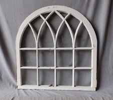 Antique Gothic Window Sash Half Round Dome Arch Top Cottage Chic 37x36   293-17P