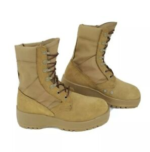Army Combat Boots Hot Weather Mens Sz 4.5 R Suede