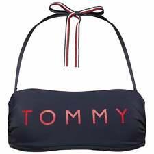 Tommy Hilfiger Mujeres esencial Bandeau Bikini Top, chaqueta azul marino