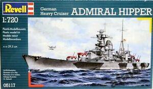 Revell 05117 German Heavy Cruiser Admiral Hipper 1/720 scale plastic model kit