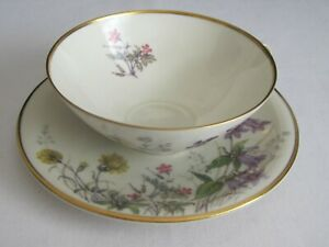 Franconia Krautheim Selb Bavaria Germany Meadow Flowers Cup and Saucer Set H
