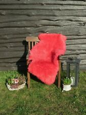 Natural Sheepskin Red 110 - 120 x 65 - 75 New