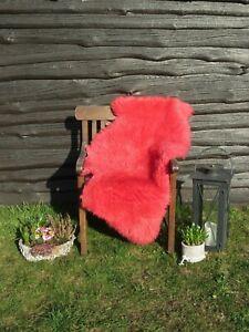 Natural Sheepskin Red 110 - 120 X 65 - 75 New