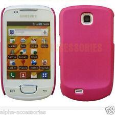 Pink Matt Finish Hard Back Case Cover Skin For Samsung Galaxy Mini S5570