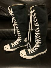 Converse All Star Chuck Taylor Knee High Black Canvas Lace Up Sneakers Womens 7