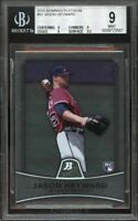 2010 bowman platinum #91 JASON HEWARD braves rookie card BGS 9 (9 9 9 9.5)
