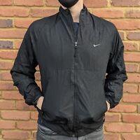 Nike Athletic Windbreaker Jacket - Patterned Zip Up - Mens Size Medium - Swoosh