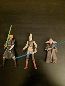 Star Wars Clone Wars Jedi Lot 3.75 inch - Plo Koon, Piell, Ki-adi-Mundi