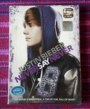 Justin Bieber ~ Never Said Never ( Malaysia Press ) Dvd