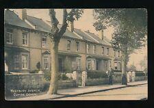 Somerset COMBE DOWN Westbury Ave + POSTMAN c1920/30s? PPC