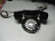 VINTAGE  ART  DECO  ROTARY  DESK  TOP  TELEPHONE PAT  DATES CHROMED  VERY NICE