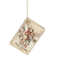 """Merry Christmas"" Santa BOOK BOX Christmas Ornament, by Midwest CBK"