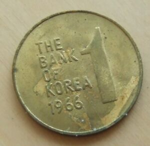 1966 Korea 1 won coin
