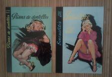 2 carte postale pin up Aslan Prison de dentelles Sensualités