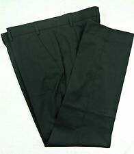 TAILORED SMART FLAT FRONT BLACK TROUSERS, WORK / OFFICE, SIZE 34S, MB108