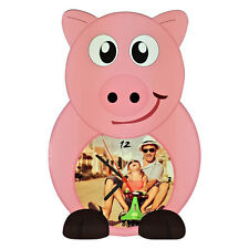 OROLOGIO DA MURO PERSONALIZZATO STAMPA PERSONALIZZATA FOTO ANIMAL PIG MAIALE