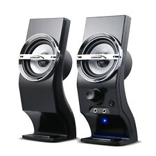 Computer PC Speakers 6W USB AUX 3.5mm Jack Stereo 2.0 System Clear Sound Solid