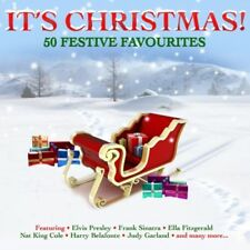 50 FESTIVE FAVOURITES IT'S CHRISTMAS 2 X CDs ELVIS SINATRA CROSBY NAT KING COLE