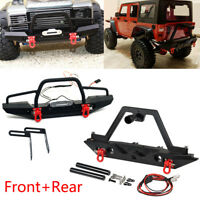 Metal Front + Rear Bumper Set For TRAXXAS TRX-4 Axial SCX10 II 90046 RC Crawler