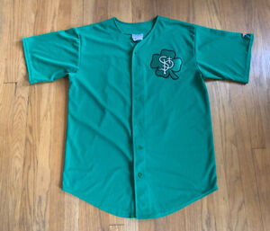 St Paul Saints Brent Krause St Patricks Day Signed Jersey 3XL EUC Rare