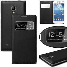 For Samsung Galaxy S4 Case, S View Flip Cover Folio Case Black