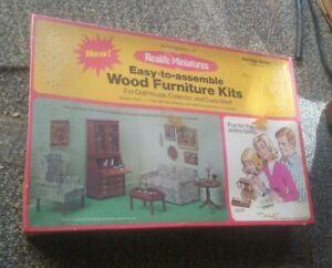 Real Life Miniatures Heritage Series Living Room Kit 189 Wood Furniture