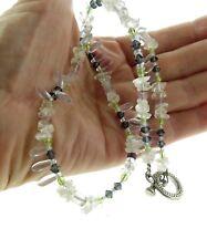 "Crystal Topaz Necklace Strand 10mm 21"""