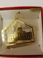 State House Montpelier Vermont  Brass Christmas Ornament Nations Treasures