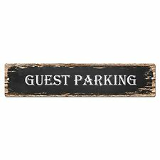 SP0423 Guest Parking Street Sign Bar Store Shop Pub Cafe Home Shabby Chic Decor