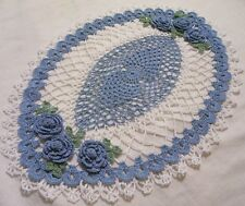 delf blue oval roses* crocheted doily by Aeshagirl!!!!!