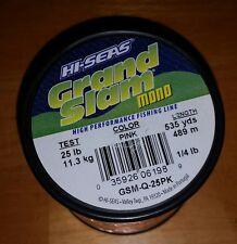Hi-Seas Grand Slam Monofiliment 25 lb test 535 yds Pink Fishing Line