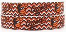 "5 Yards 7/8"" Baltimore Orioles Baseball Grosgrain Ribbon Crafts Bows Scrapbook"
