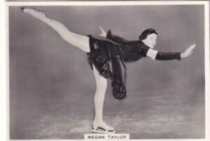 MEGAN  TAYLOR british amateur ICE SKATING CHAMPION - ardath  1938 cigarette card