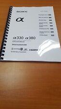 Reflex Sony A330 380 reflex imprimé manuel d'utilisation guide utilisateur 172 pages A5