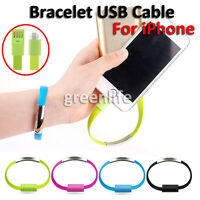 Bracelet USB Chargeur Câble de charge Data Sync Pour Apple iPhone 6 6 plus 5 4