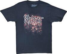 New Men's Slipknot Red Band Photo Heavy Metal Band Throwback Black T-Shirt Tee