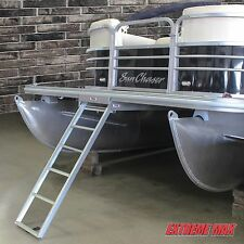 Extreme Max 3005.3430 Under-Mount Pontoon Ladder – 5 Step Premier, Bennington