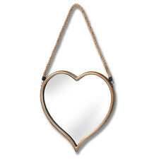 Love Heart Wooden Framed Bedroom Bathroom Hall Wall Hanging Mirror With Hearts
