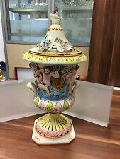 CAPODIMONTE vase/deckelvase 40 cm (((excellent état)))