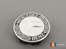 NEW GENUINE MERCEDES BENZ MB WHEEL HUB CENTER CAP LAUREL WREATH LOGO BLACK 1PCS