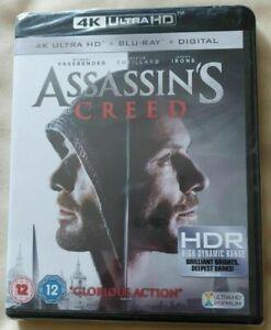 Assassins Creed (4K Ultra HD + Blu-Ray) Michael Fassbender New / Sealed