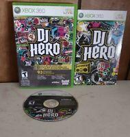 DJ Hero Microsoft Xbox 360 cib Tested