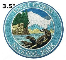 Kenai Fjords National Park Patch Souvenir Travel Embroidered Iron / Sew-on