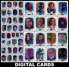 Topps Star Wars Card Trader STELLAR Wave 2 [49 CARD SKETCH CARD REPRODUCTION SET