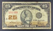 1923 Dominion of Canada - 25 Cents Banknote, P-11b.
