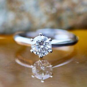Moissanite Engagement Ring Sterling Silver 925 Top Grade VVS D Colour Adjustable