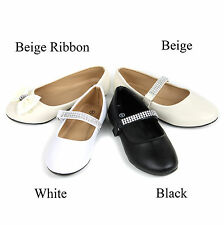 New Girls Youth Kids Comfort Casual Ballet Flat Mary Jane Slip-On School Shoes